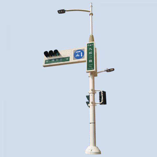 路燈與懸臂型號誌桿共桿